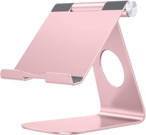 stand, pink, metallic, support, short story